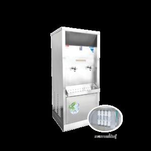 ตู้ทำน้ำเย็น 2 ก๊อก ระบบกรองน้ำในตัว ระบายความร้อนด้วยรังผึ้ง รุ่น XC-2PF