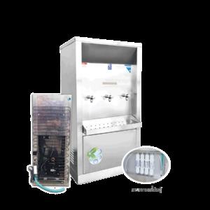 ตู้ทำน้ำเย็น 3 ก๊อก ระบบกรองน้ำในตัว ระบายความร้อนด้วยแผงร้อน รุ่น XC-3PFW