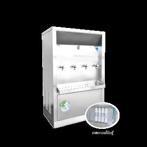 ตู้ทำน้ำเย็น 4 ก๊อก ระบบกรองน้ำในตัว ระบายความร้อนด้วยรังผึ้ง รุ่น XC-4PF