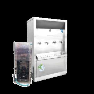 ตู้ทำน้ำเย็น 4 ก๊อก ระบายความร้อนด้วยแผงร้อน XC-4PW