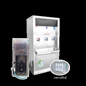 ตู้ทำน้ำร้อน น้ำเย็น 3 ก๊อก ระบบกรองน้ำในตัว ระบายความร้อนด้วยแผงร้อน รุ่น XCH-3PFW