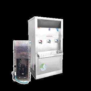 ตู้ทำน้้ำร้อน น้ำเย็น 3 ก๊อก ระบายความร้อนด้วยแผงร้อน รุ่น XCH-3PW