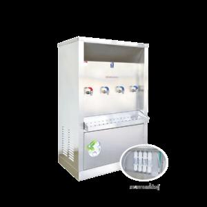 ตู้ทำน้ำร้อน น้ำเย็น 4 ก๊อก ระบบกรองน้ำในตัว ระบายความร้อนด้วยรังผึ้ง รุ่น XCH-4PF