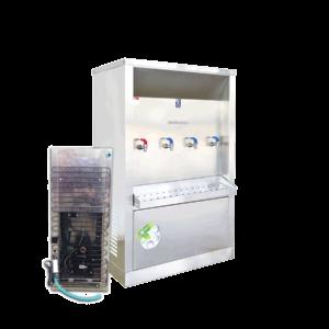 ตู้ทำน้ำร้อน น้ำเย็น 4 ก๊อก ระบายความร้อนด้วยแผงร้อน รุ่น XCH-4PW